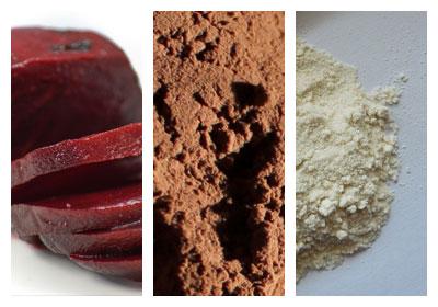 Kakaová buchta s červenou řepou