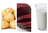 Náhled šťouchaných brambor s červenou řepou
