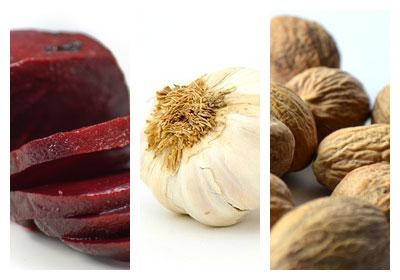 Pomazánka z červené řepy s vlašskými ořechy