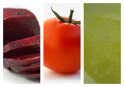 Polévka z červené řepy a rajčat