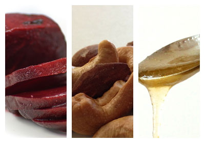 Řepná pomazánka s ořechy kešu